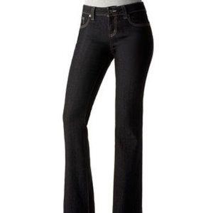 NWT DKNY soho stretch bootcut black jeans size 6